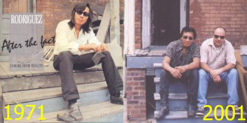 Rodriguez and Sugar on the steps